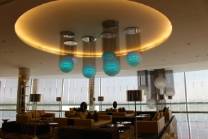 Beautiful chandelier at Etihad Towers
