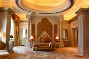 The 3 Bedroom Palace Suite at the Emirates Palace in Abu Dhabi