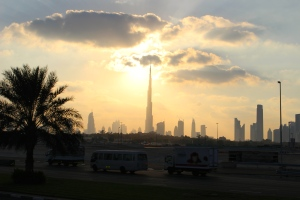 The Burj Khalifa from a Big Bus tour of Dubai