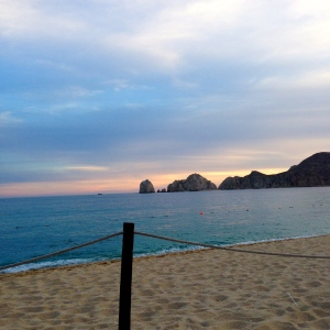 The sunset on our first night in Cabo San Lucas, Mexico