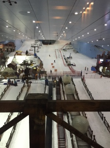 View from the 3 Bedroom Grand Ski Chalet at Kempinski Hotel Mall of the Emirates
