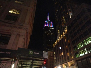 We also had a view of the colourful Empire State Building
